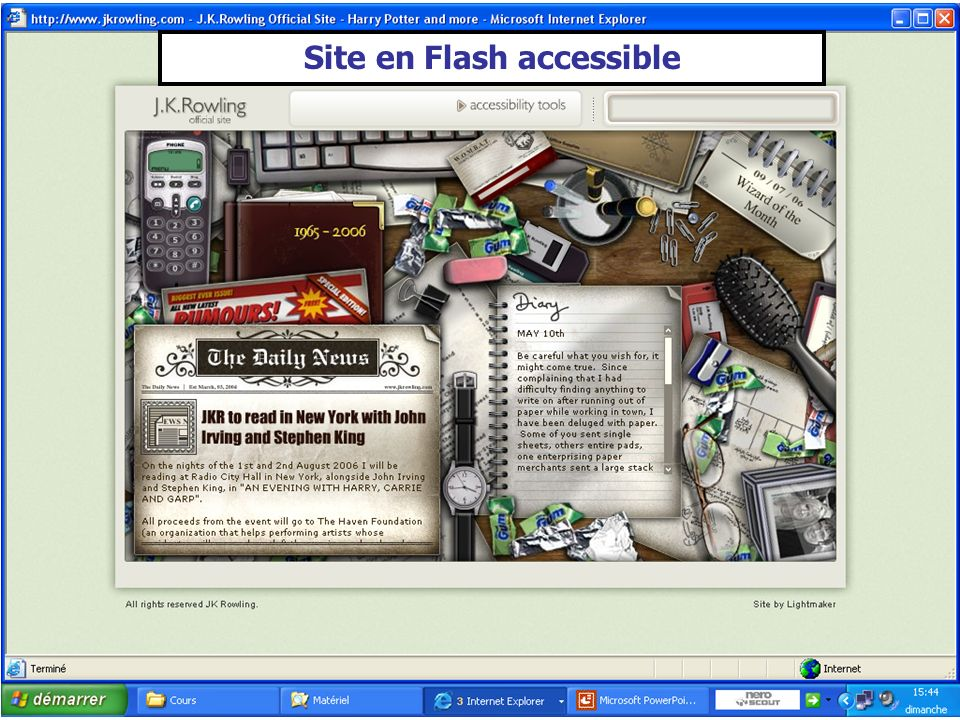 Site en Flash accessible