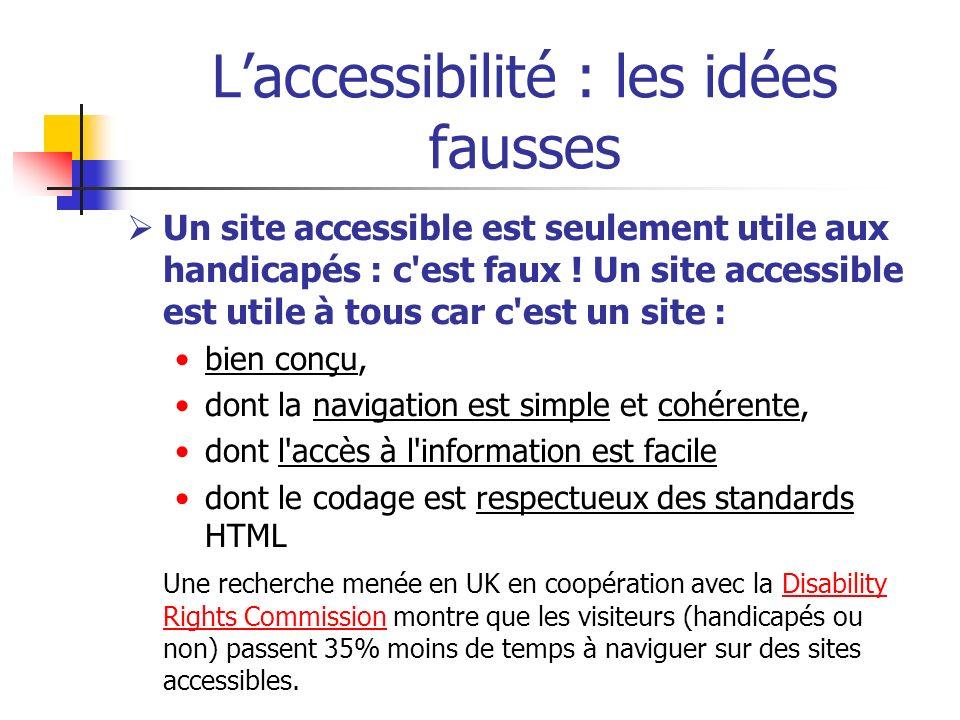 L'accessibilité : les idées fausses