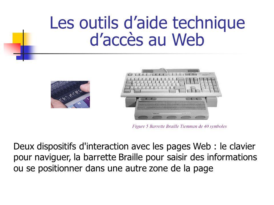 Les outils d'aide technique d'accès au Web