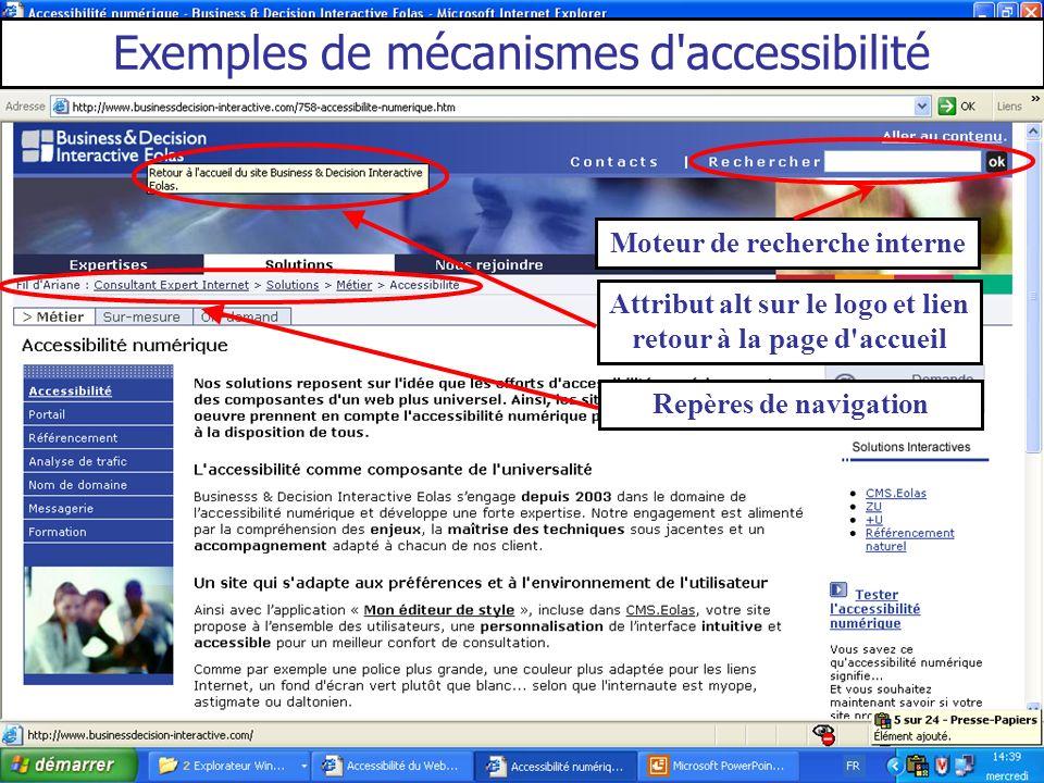 Exemples de mécanismes d accessibilité