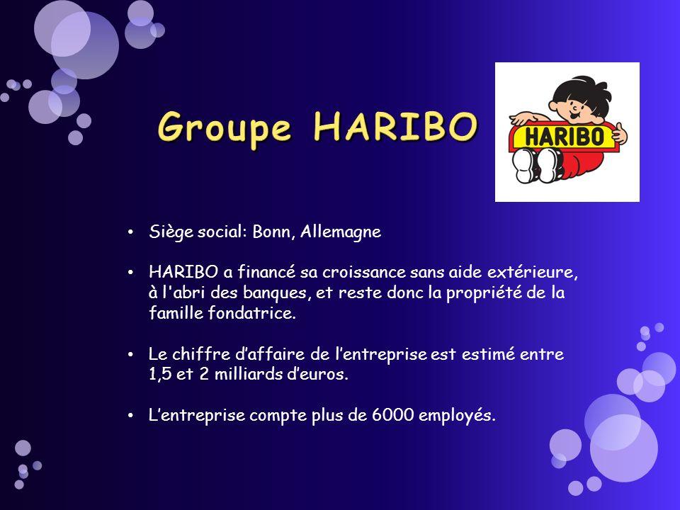Groupe HARIBO Siège social: Bonn, Allemagne