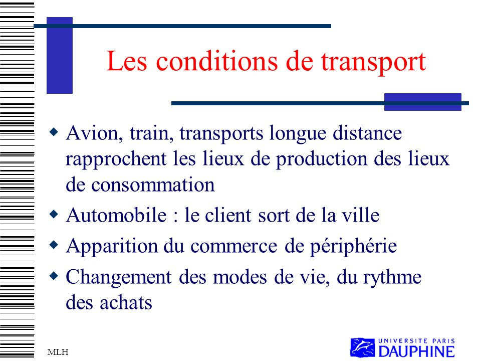 Les conditions de transport