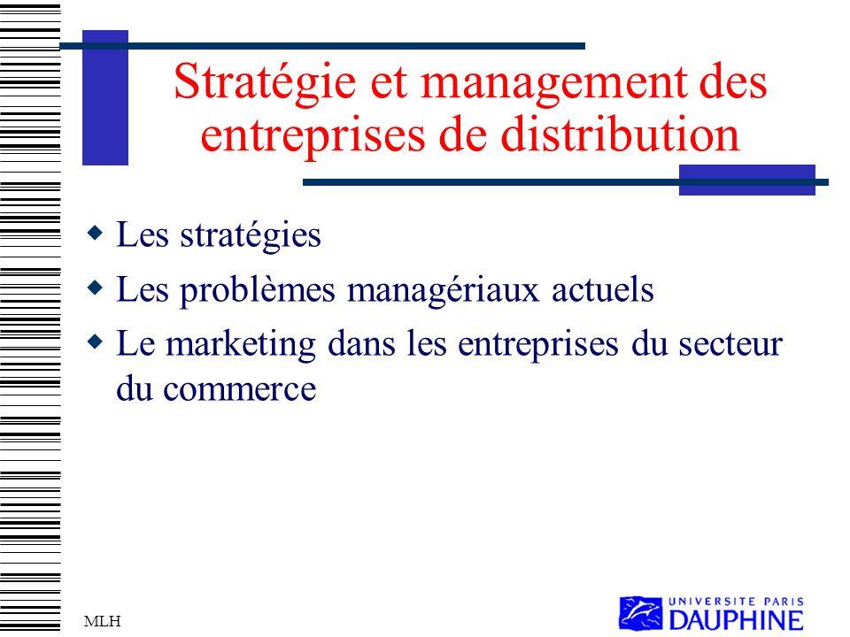 Stratégie et management des entreprises de distribution