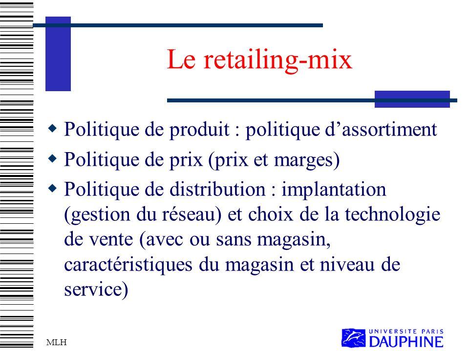 Le retailing-mix Politique de produit : politique d'assortiment