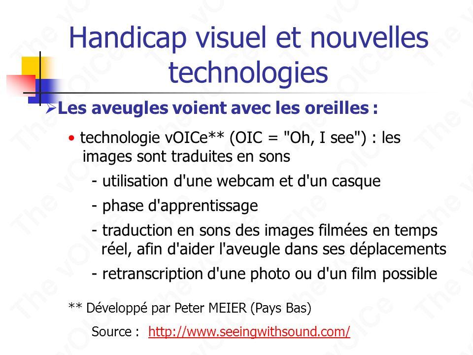 Handicap visuel et nouvelles technologies