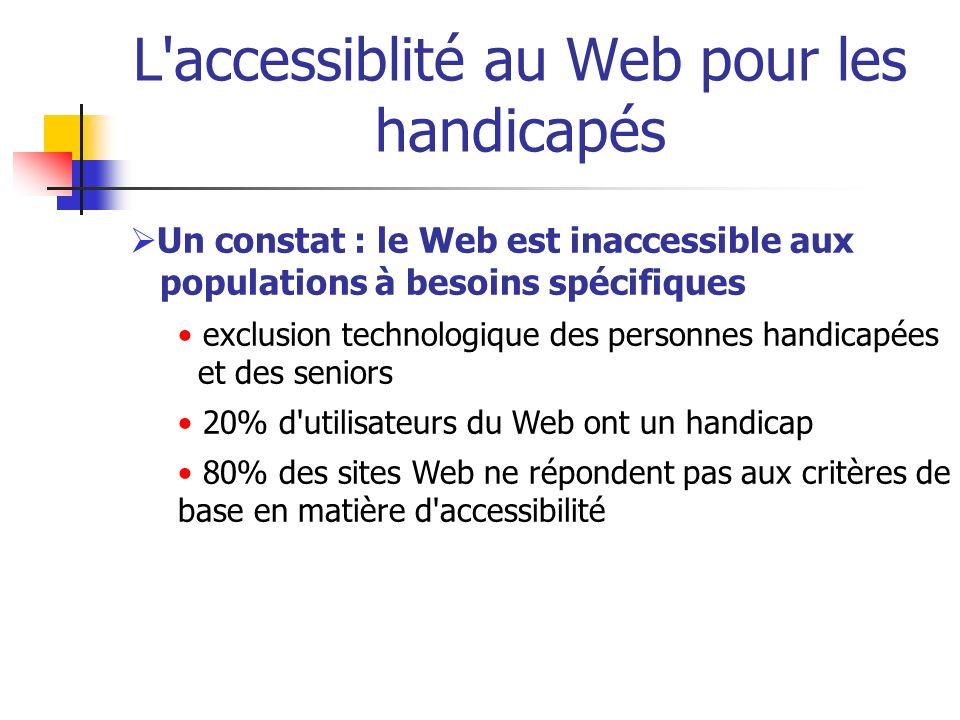 L accessiblité au Web pour les handicapés