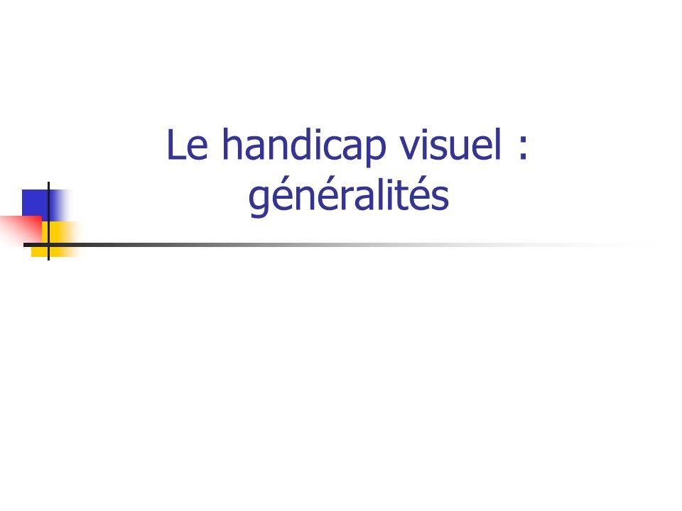 Le handicap visuel : généralités