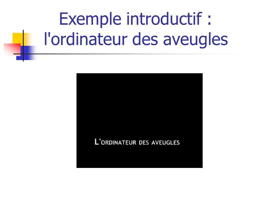 Exemple introductif : l ordinateur des aveugles
