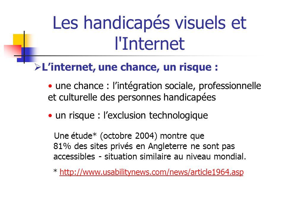 Les handicapés visuels et l Internet