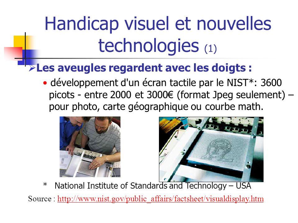 Handicap visuel et nouvelles technologies (1)