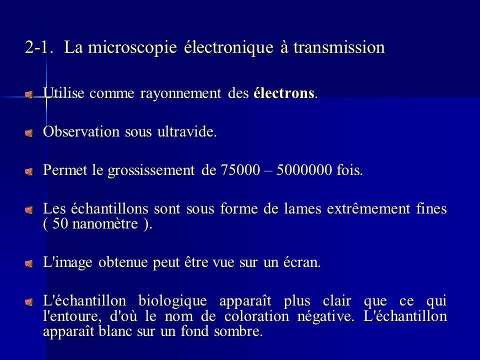 2-1. La microscopie électronique à transmission