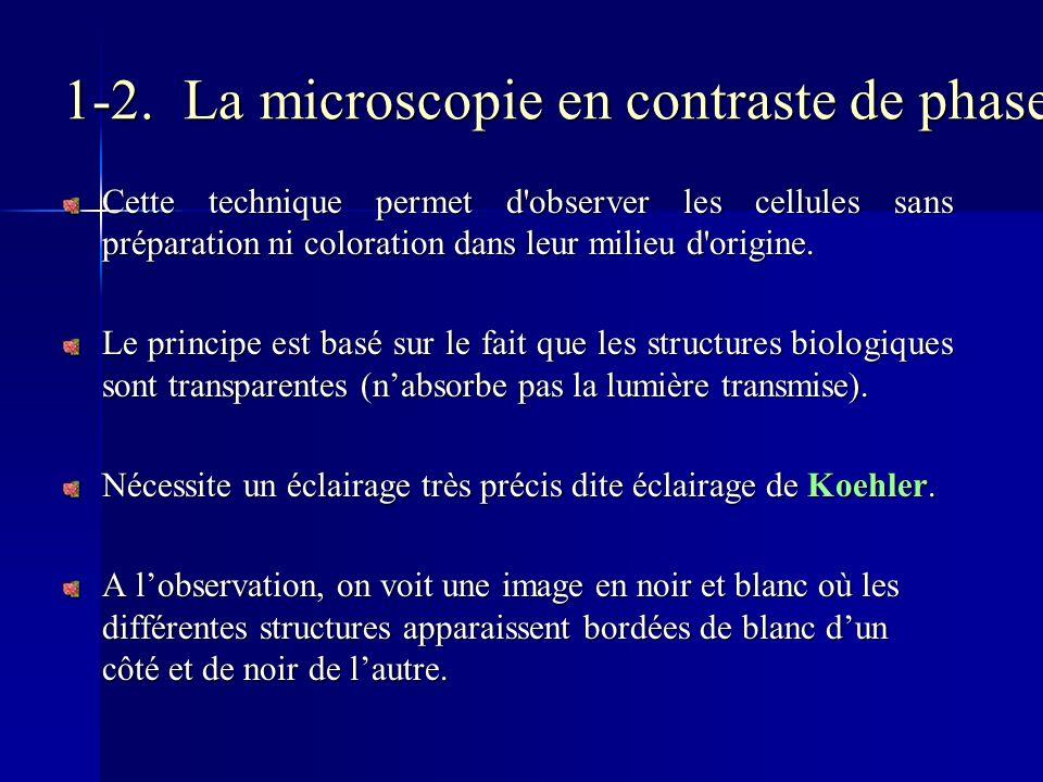 1-2. La microscopie en contraste de phase