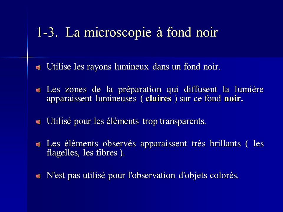1-3. La microscopie à fond noir