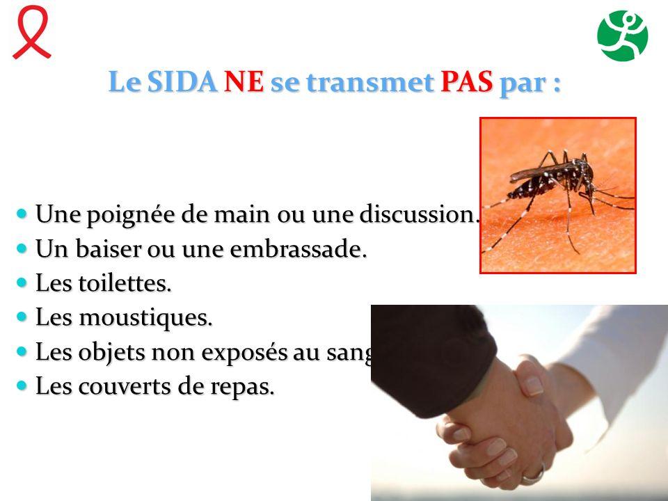 Le SIDA NE se transmet PAS par :