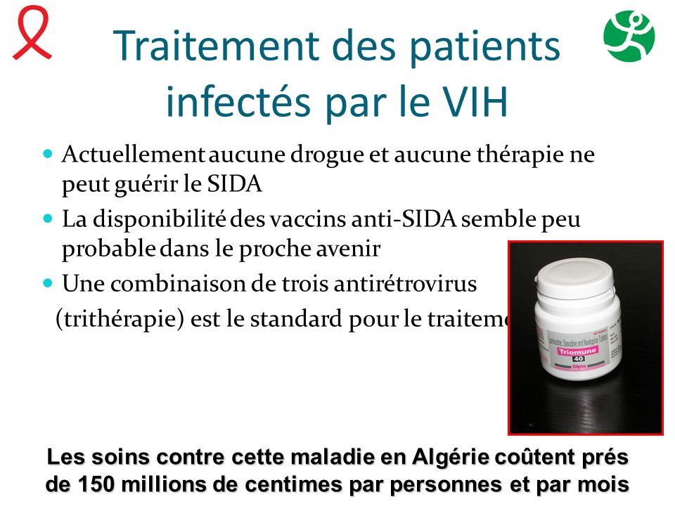 Traitement des patients infectés par le VIH