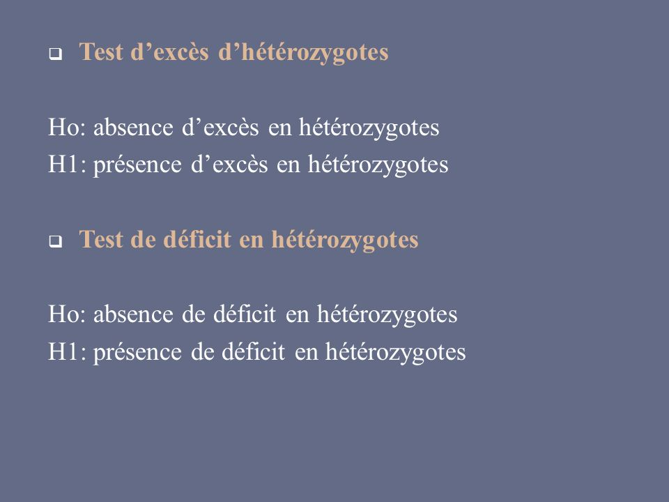 Test d'excès d'hétérozygotes