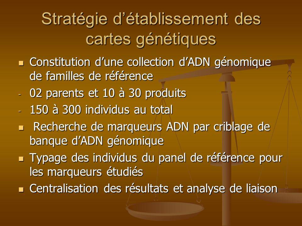 Stratégie d'établissement des cartes génétiques