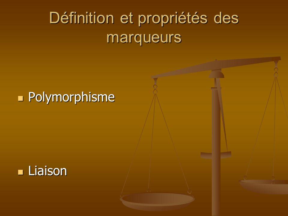 Définition et propriétés des marqueurs