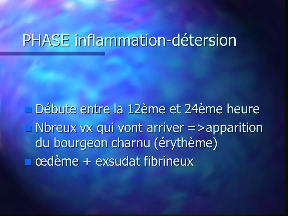 PHASE inflammation-détersion
