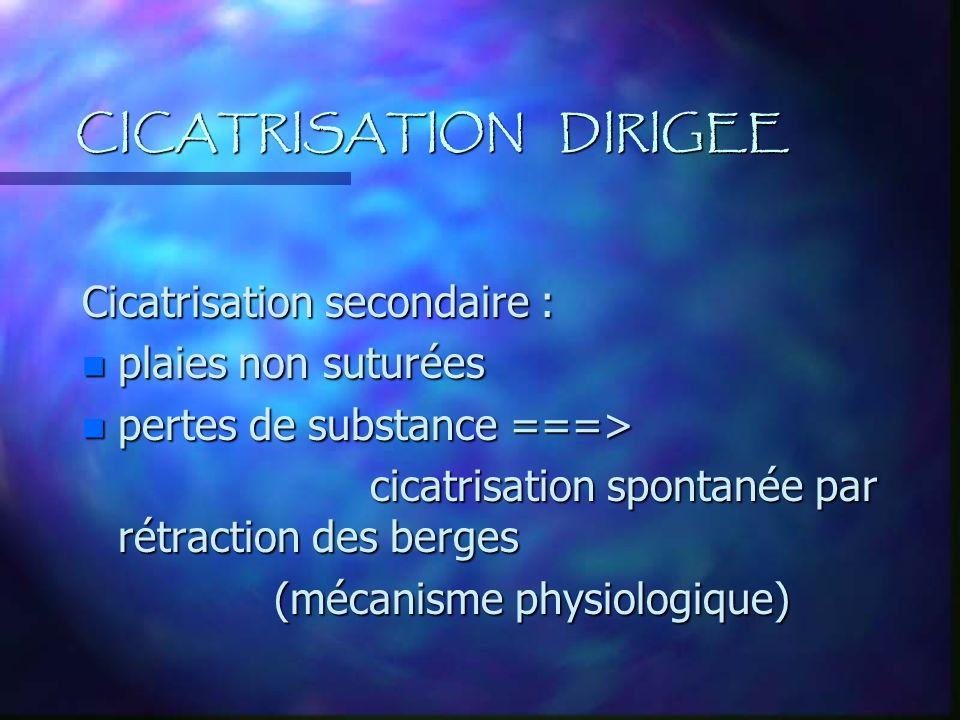 CICATRISATION DIRIGEE