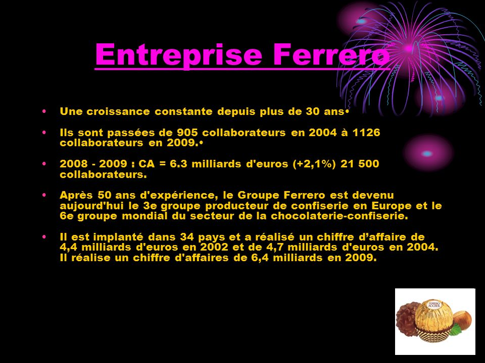 Ferrero nathalie f licia ppt video online t l charger for Dans 30 ans plus de chocolat