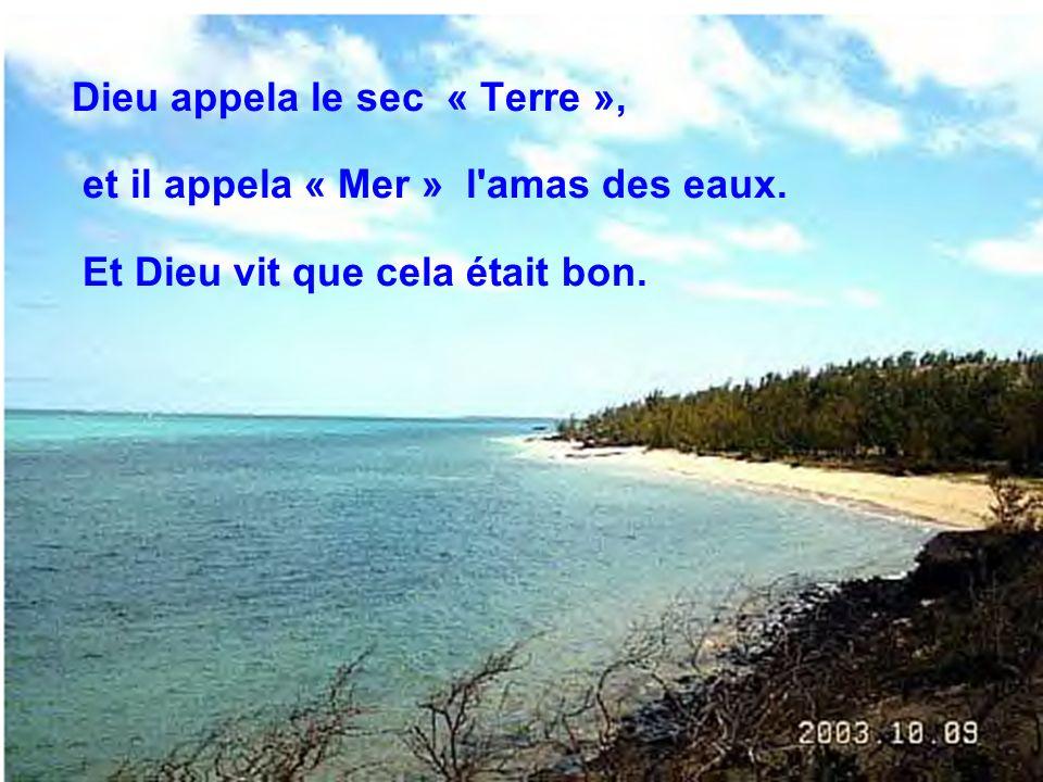 Dieu appela le sec « Terre », et il appela « Mer » l amas des eaux