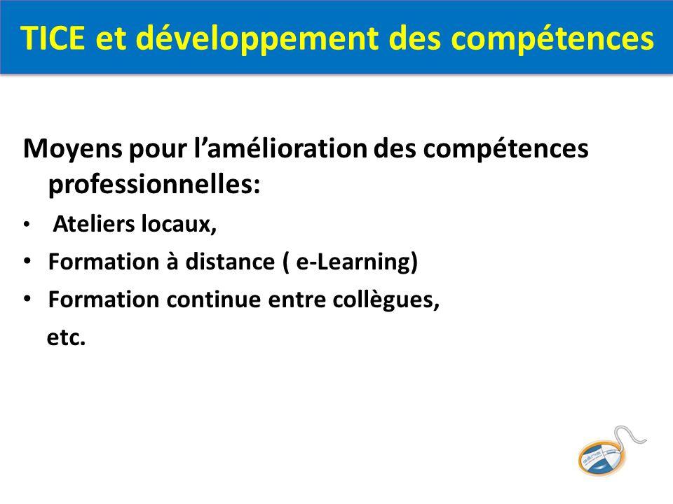 TICE et développement des compétences