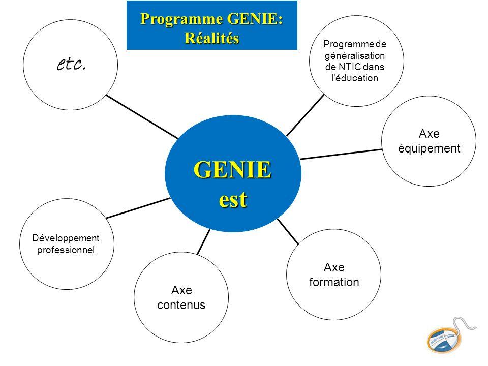 Programme GENIE: Réalités