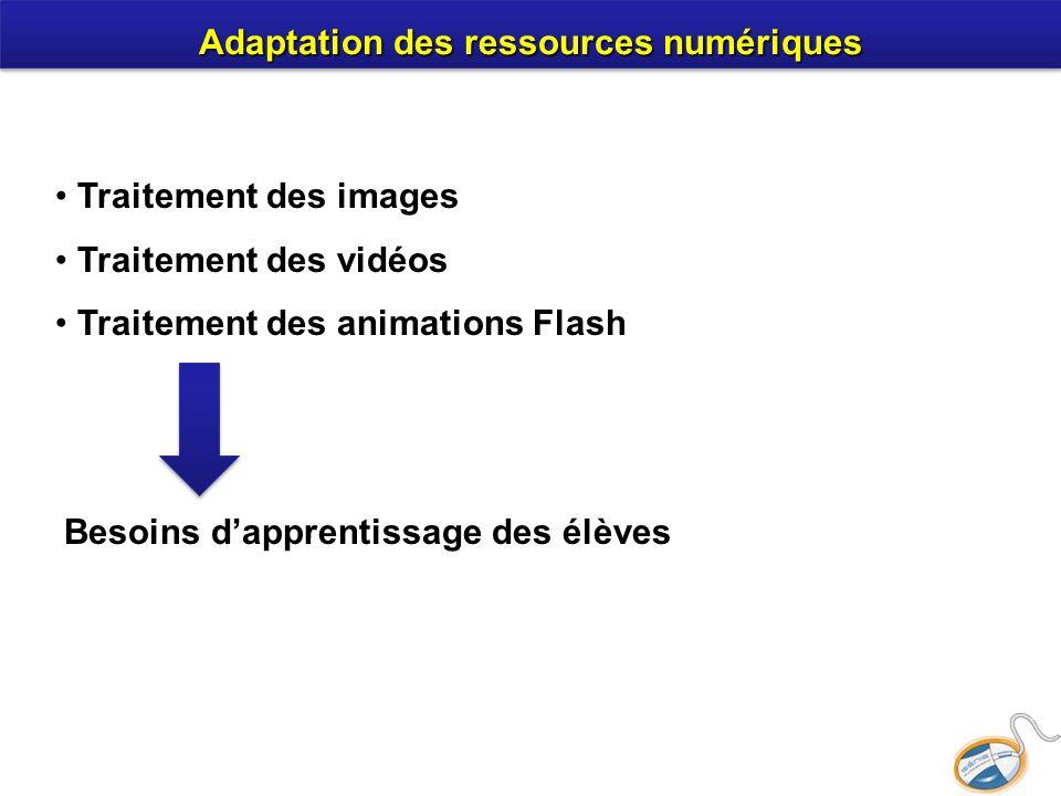 Adaptation des ressources numériques