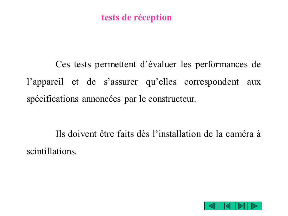 tests de réception