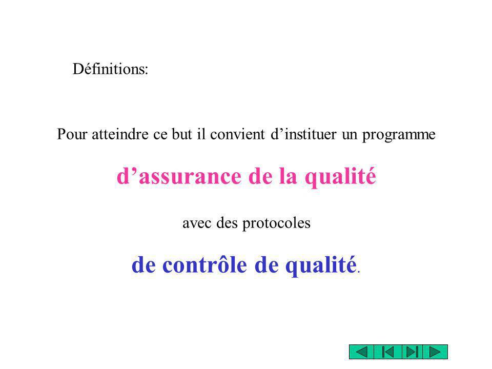 d'assurance de la qualité