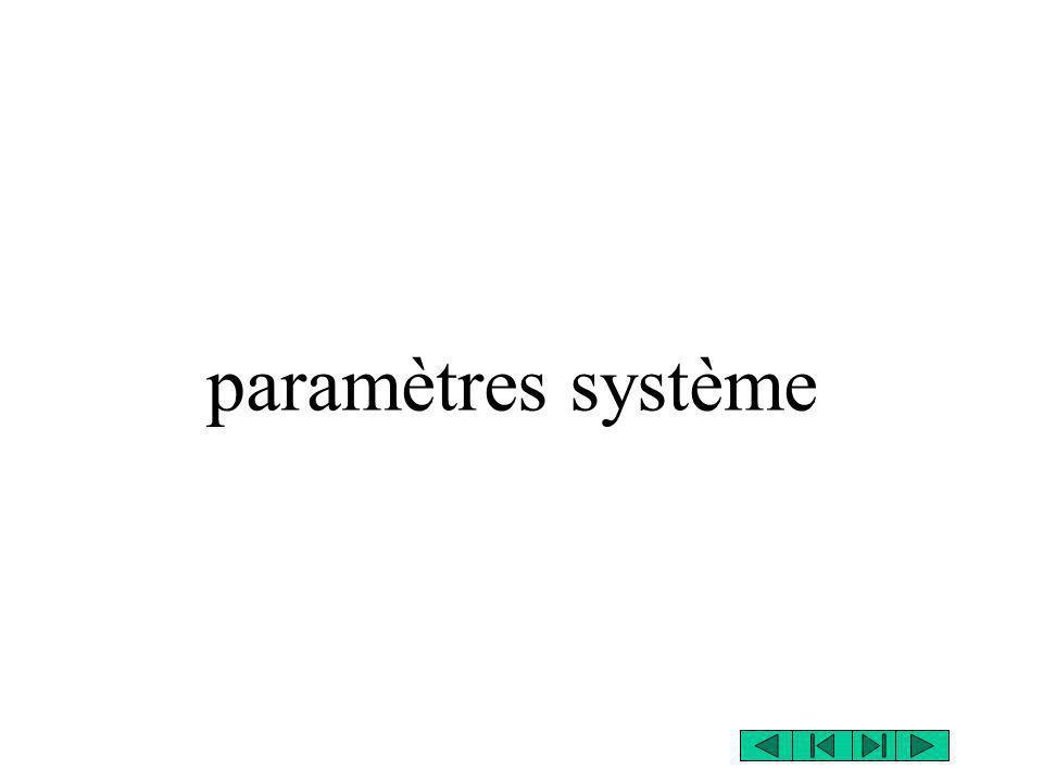 paramètres système