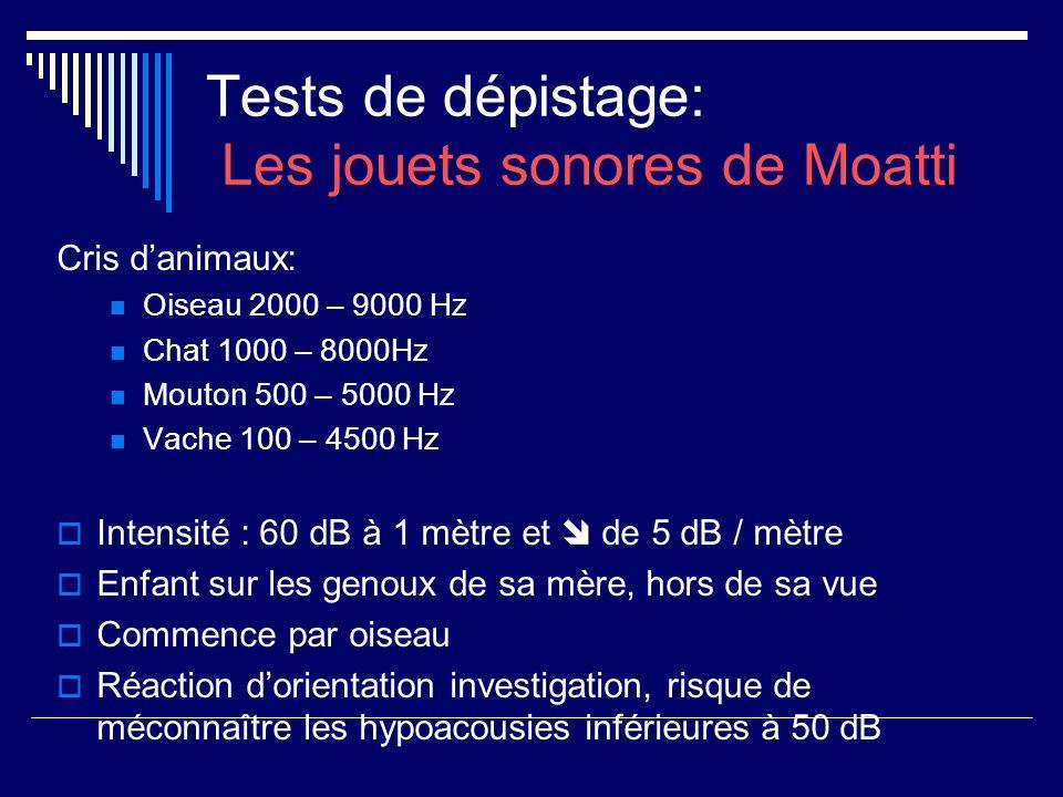 Tests de dépistage: Les jouets sonores de Moatti