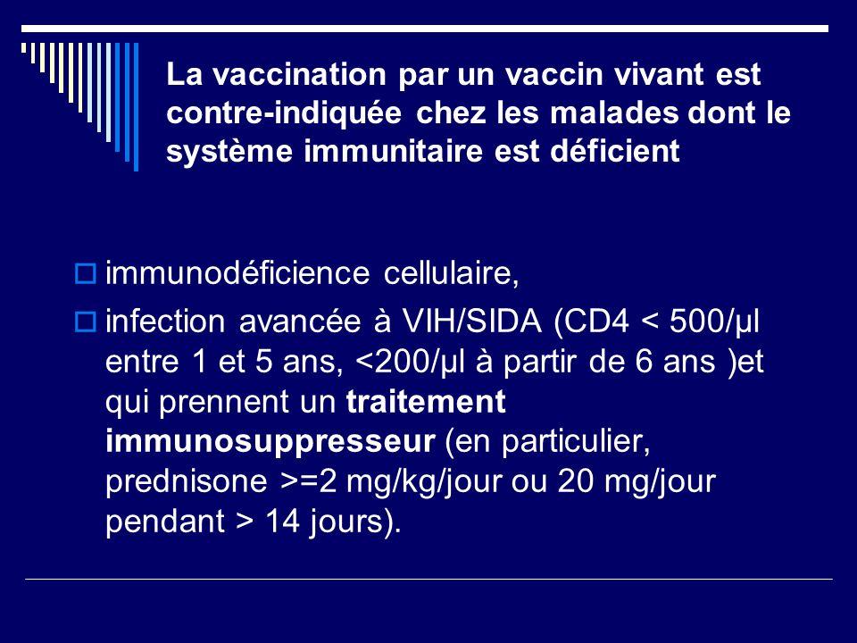 immunodéficience cellulaire,