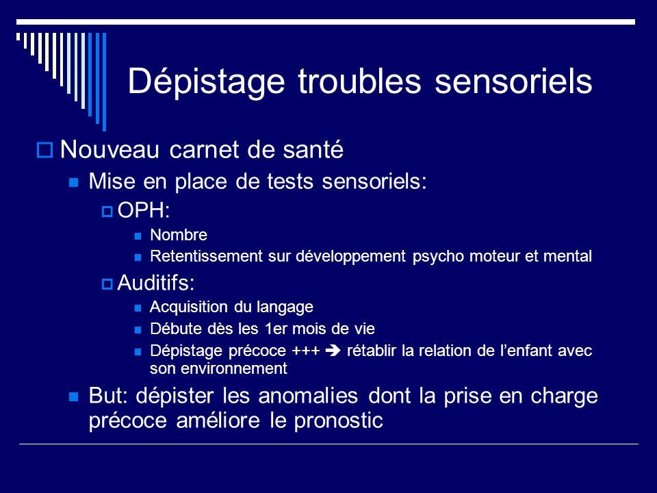 Dépistage troubles sensoriels