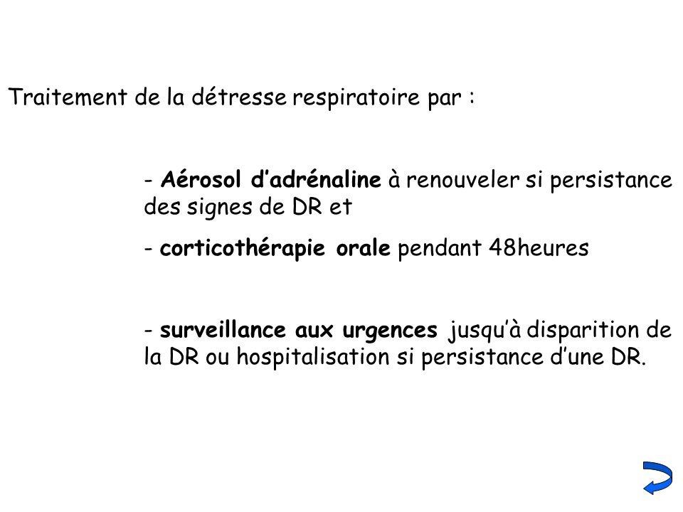 Traitement de la détresse respiratoire par :