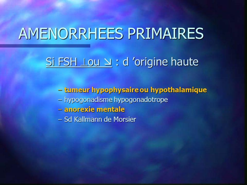 AMENORRHEES PRIMAIRES