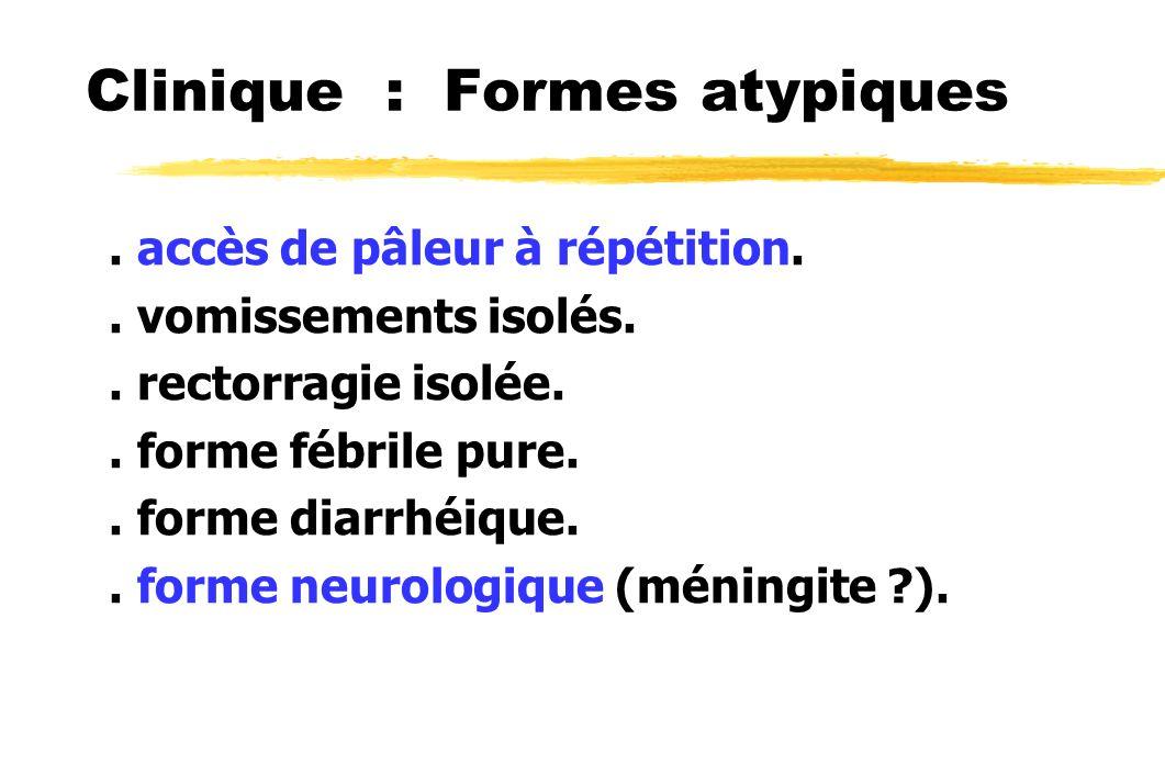 Clinique : Formes atypiques
