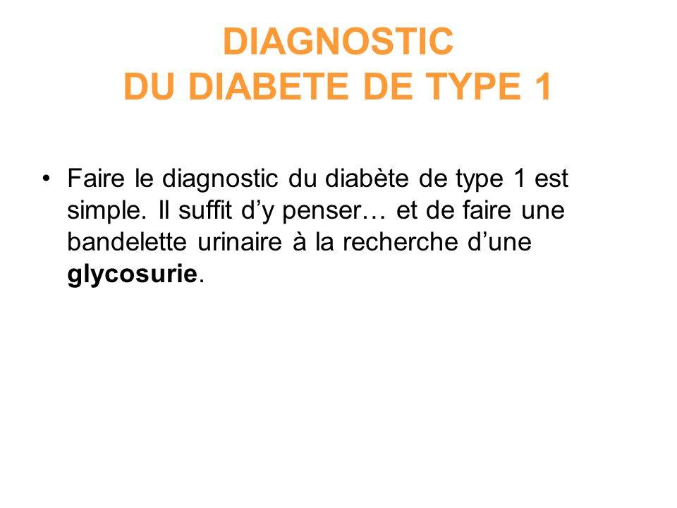 DIAGNOSTIC DU DIABETE DE TYPE 1