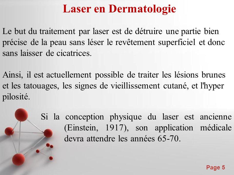 Laser en Dermatologie