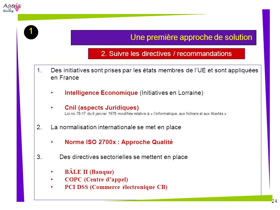 2. Suivre les directives / recommandations