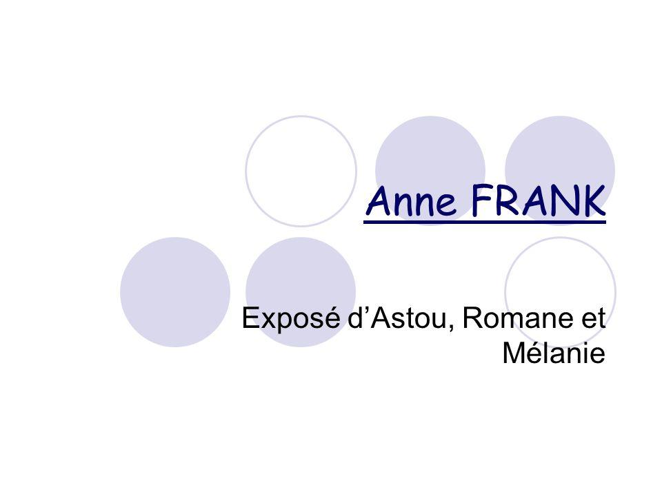 Exposé d'Astou, Romane et Mélanie