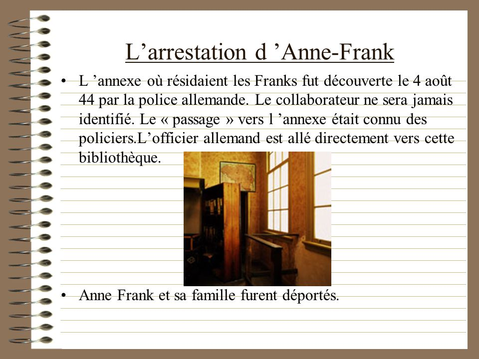 L'arrestation d 'Anne-Frank