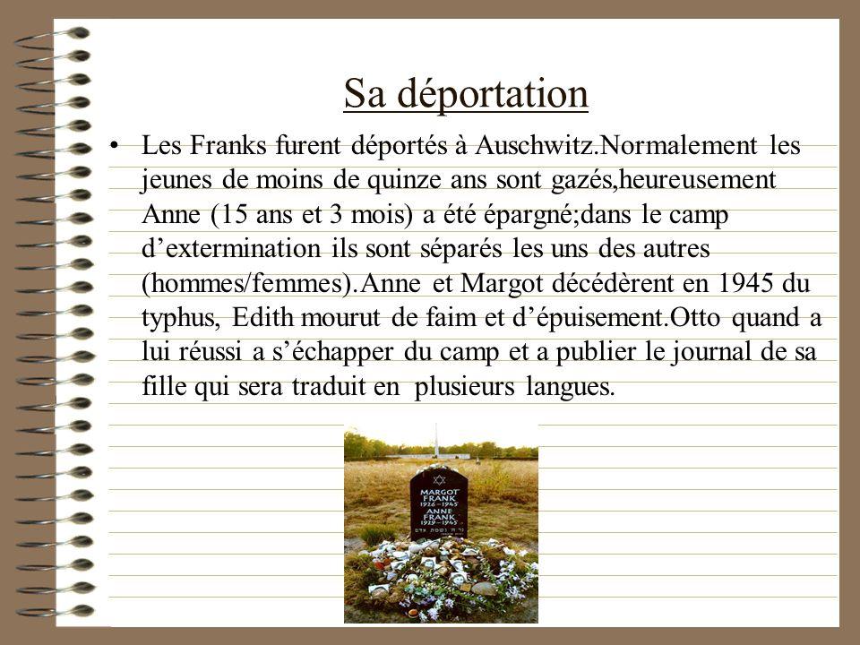 Sa déportation
