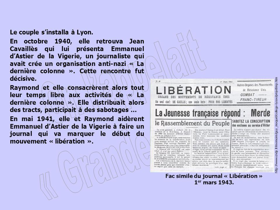 Fac simile du journal « Libération »