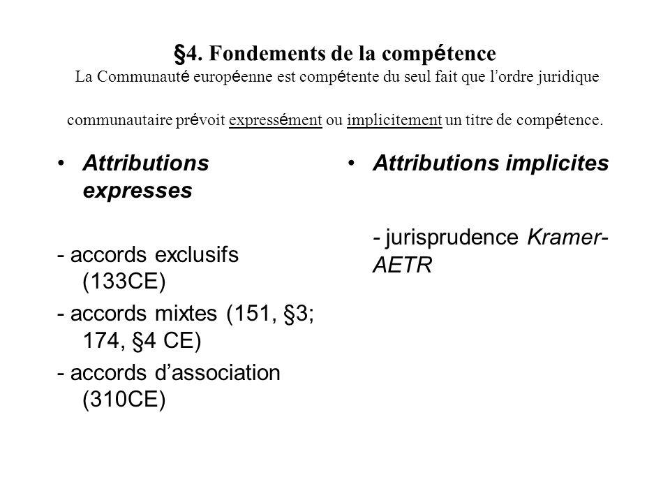 - jurisprudence Kramer-AETR