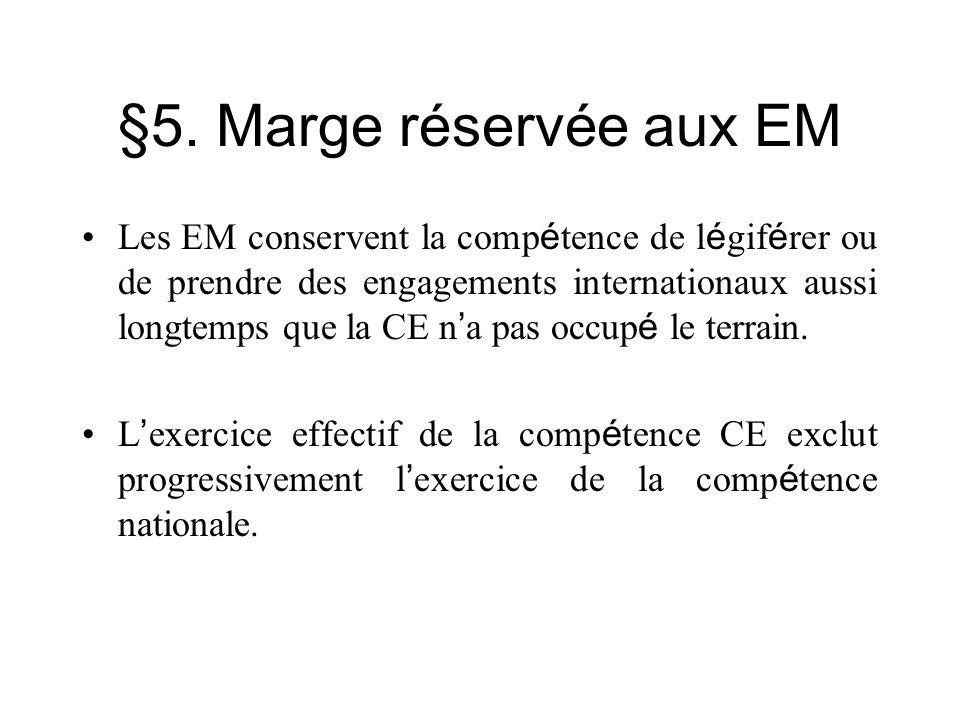§5. Marge réservée aux EM