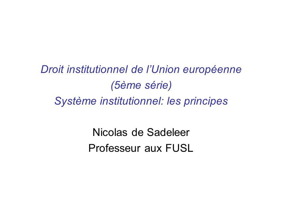 Droit institutionnel de l'Union européenne (5ème série)