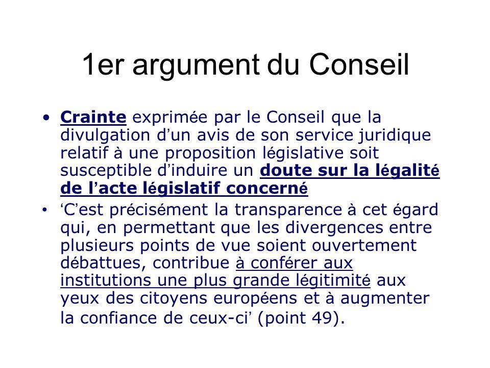 1er argument du Conseil