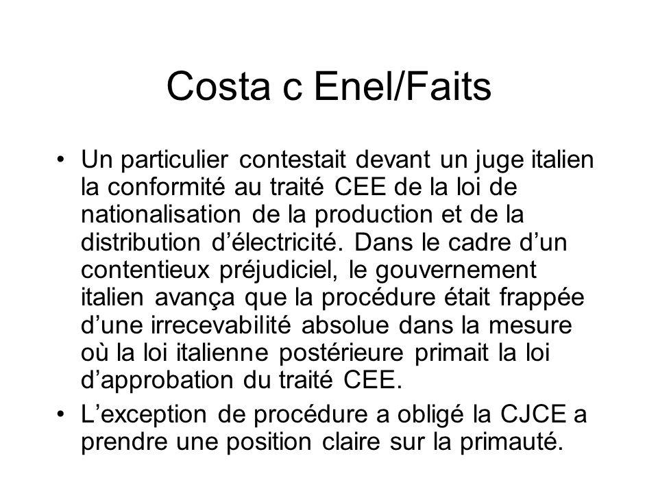 Costa c Enel/Faits